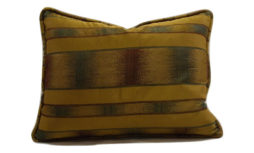 Golden-Olive Corded Ethnic Decorative Pillow Cover 12x18 | Decor Team
