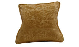 Golden Embroided Corded Pillow Cover - 18x18 | Decor Team